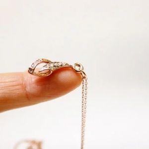 Teardrop Necklace/Bracelet, Rhinestone, Handmade🌸